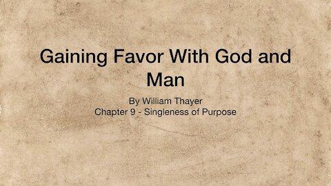 Chapter 9 - Singleness of Purpose