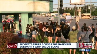 Protests erupt across the nation in solidarity with Jacob Blake