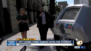 City lowers street parking rates for students