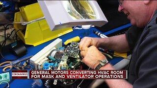 General Motors converting HVAC room for mask and ventilator operations