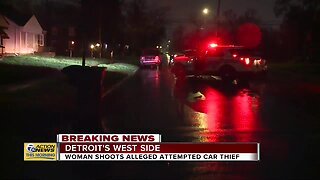 Police: Woman investigates noises outside home, shoots man on Detroit's west side