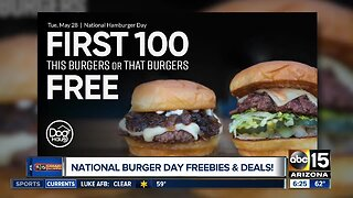 National burger day freebies and deals