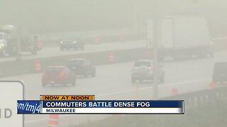 Morning drivers battle dense fog across southeast Wisconsin