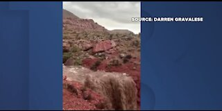 Flash flooding at Red Rock Canyon
