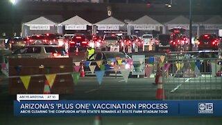 State Farm Stadium COVID-19 vaccine 'plus one' process
