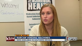 Narcan now available in Las Vegas vending machines