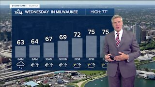 Morning shower on Wednesday, then partly cloudy and windy