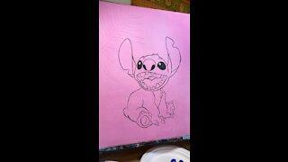 Stitch painting super fast