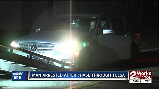 Man arrested after chase with Tulsa Police