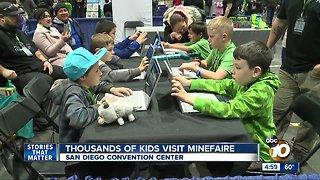 Thousands of kids visit Minefaire