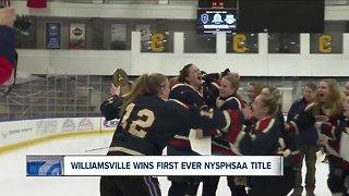 Williamsville girls hockey wins first state championship