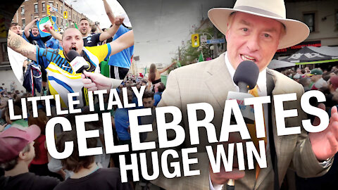 Big celebration in Toronto's Little Italy as fans party like it's 2019