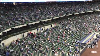 Brewers welcome back 50% of fans to American Family Field