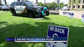 Racine community comes together for fallen officer