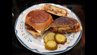 Grilled Cheese sliders stuffed with Sloppy Joe's?