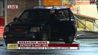 Smash-and-grab at Detroit Family Dollar store
