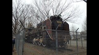 Rusty old Steam locomotive