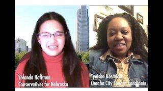 Yolanda Hoffman's Conversation with Omaha City Council Candidate Tyeisha Kosmicki