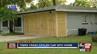 16-year-old boy arrested for grand theft auto after crashing stolen SUV into Clearwater home