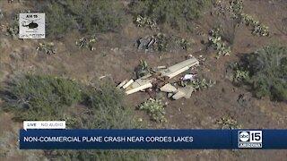 Plane crash near Cordes Lakes Monday