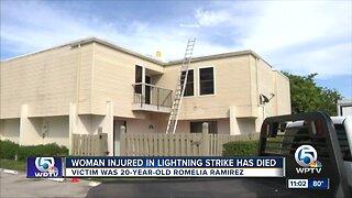 20-year-old woman dies weeks after Wellington lightning strike