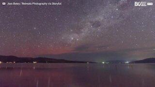 Fantastiche immagini dell'aurora australe in Tasmania