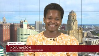 India Walton responds to the announcement of a write-in campaign by Buffalo Mayor Byron Brown