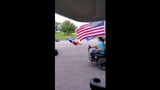 Golf Cart Trump Parade