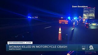 Woman dies in crash when motorcycle tire blows out