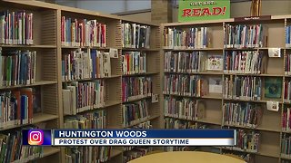 Drag Queen Storytime in Huntington Woods met with protest