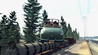 L.A. Noire stunt - Cool stunt - Car jumps over the moving train