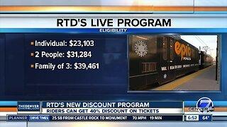 RTD's new discount program starts enrollment today