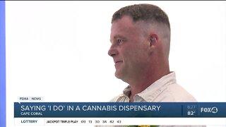 Cannabis dispensary wedding
