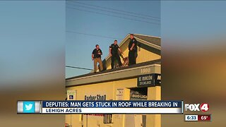 Suspected burglar arrested after getting stuck in roof vent in Lehigh Acres
