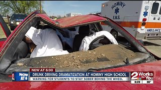 Hominy students get glimpse of real drunk driving dangers