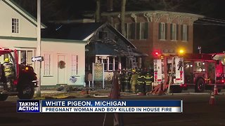Pregnant woman & boy killed in house fire