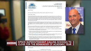 Detroit schools superintendent calls on state to close schools for the year