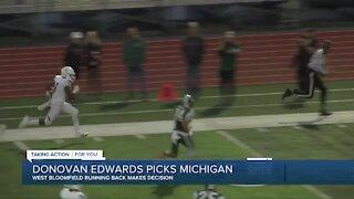 West Bloomfield's Donovan Edwards picks Michigan