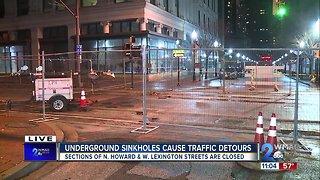 Underground Sinkholes Cause Traffic Detours and Light Rail Closures