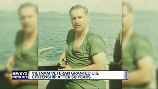 Vietnam veteran granted U. S. Citizenship after 50 years