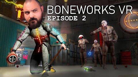 Oculus Quest 2 - Beginner Tries Boneworks - Episode 2