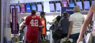 COVID-19 cases at McCarran Airport in Las Vegas