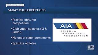 AIA clarifies high school winter sports plan