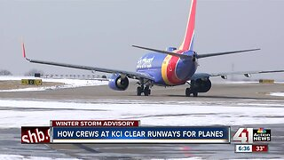 How crews at KCI clear runways for planes