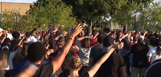 Black Lives Matter protesters hold peaceful rally, vigil in Las Vegas