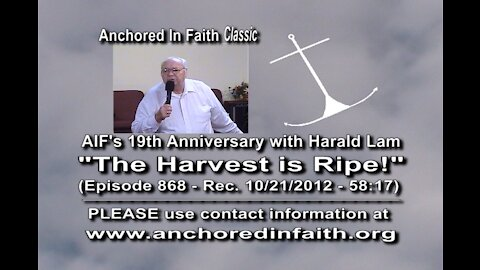 #868 – AIFGC 19th Anniversary featuring Evangelist Harald Lam