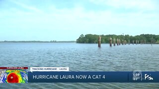 Hurricane Laura now a category 4