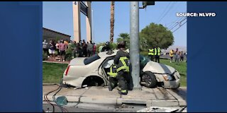 3 people rescued from car in North Las Vegas