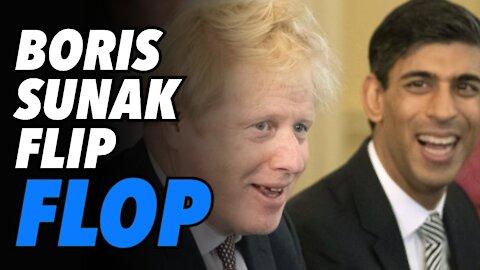 Boris Johnson & Rishi Sunak flip flop on self-isolation