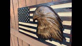 3d American Eagle Flag